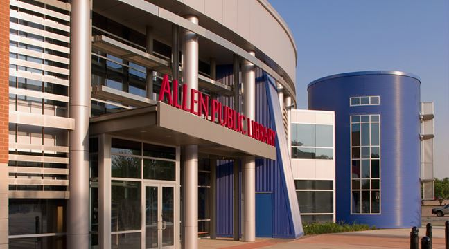 exterior photo of Allen Public Library Opens in new window