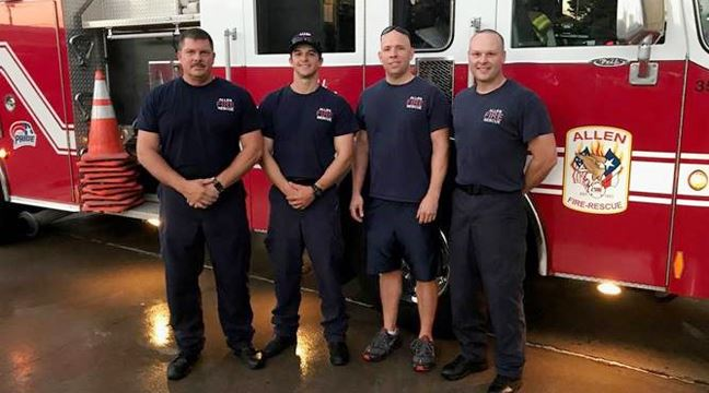 Allen Fire Department Deployed to Houston