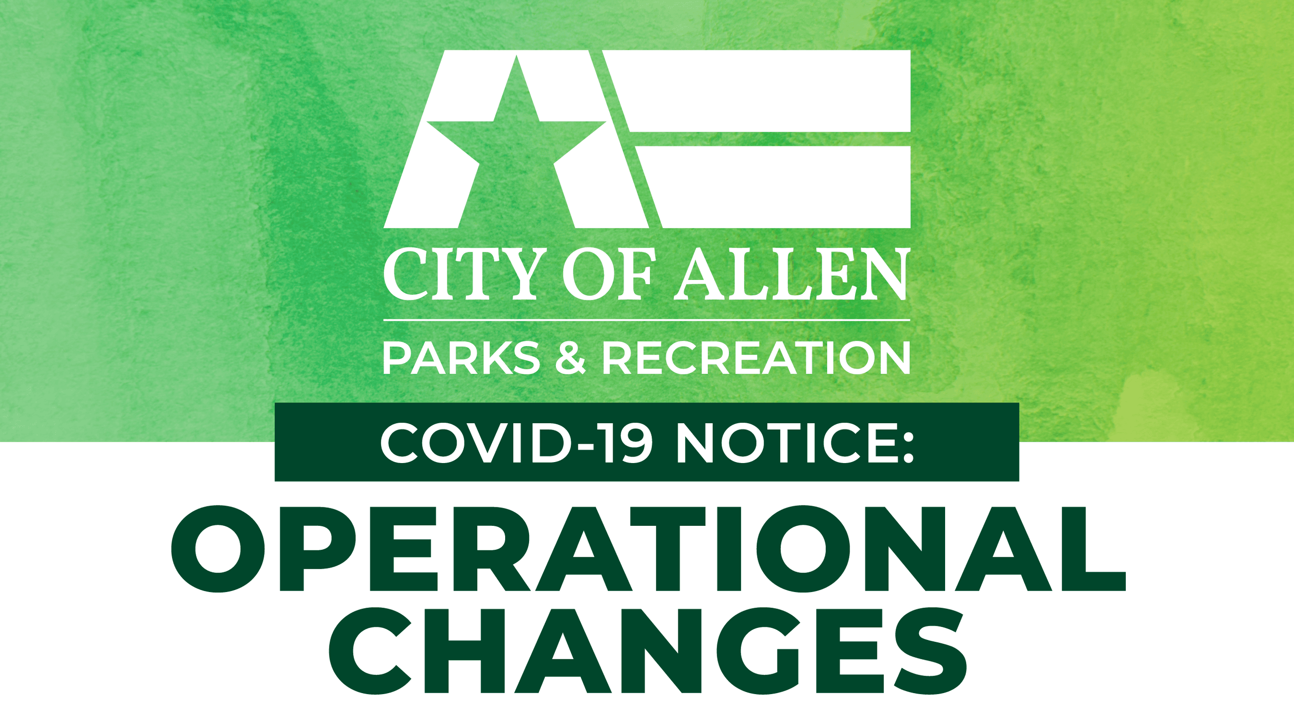 Graphic - Parks and Recreation COVID-19 Operational Changes