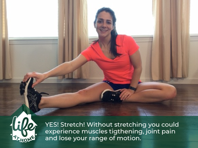 YES! Stretch! Without stretching you could experience muscles tightening, joint pain and lose your r