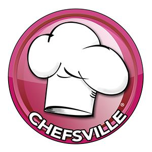 Image: Large chef's hat with Chefsville logo