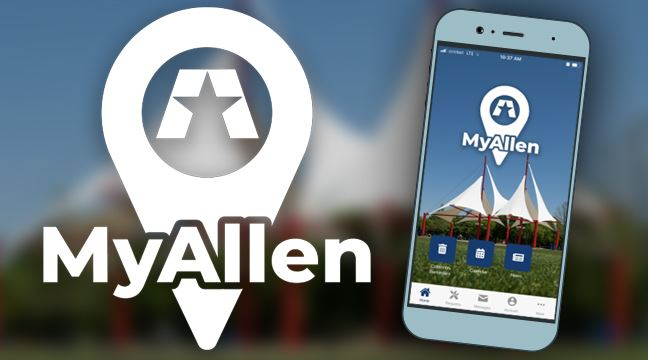 MyAllen Mobile App logo and screenshot