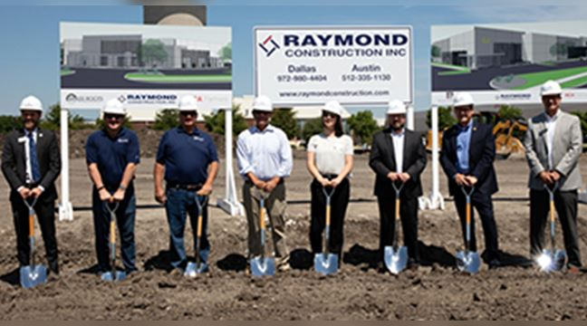 Staff pictured during Brass Roots Technologies groundbreaking