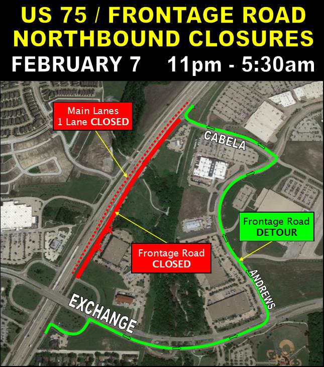 Allen TX Official Website - Us 50 closure map
