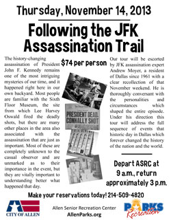 JFK Assassination Trail Trip - November 14
