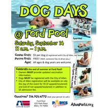 Dog Days at Ford Pool - September 14