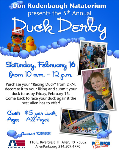 The Duck Derby 2013