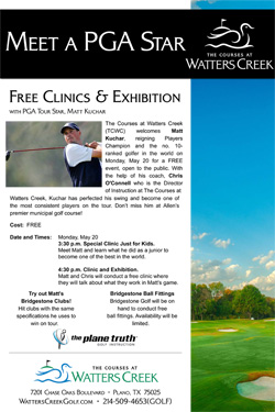 FREE Clinics and Exhibition with PGA Tour Star Matt Kuchar