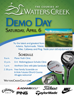 The Courses at Watters Creek Demo Day - April 6