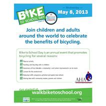 Bike to School Day - May 8, 2013