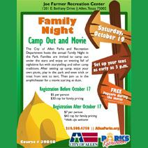 Family Night Camp-Out and Movie - October 19