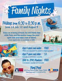Family Night at Ford Pool - June 14