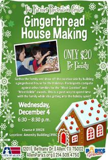 Gingerbread House Making Flyer