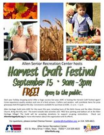 Harvest Craft Festival September 15