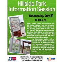 Hillside Park Information Session - July 31