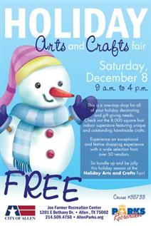 Holiday Art and Craft Fair December 8