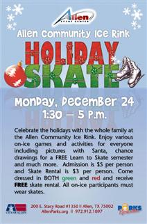 Holiday Open Skate at Allen Community Ice Rink - December 24