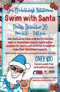 Swim with Santa Flyer