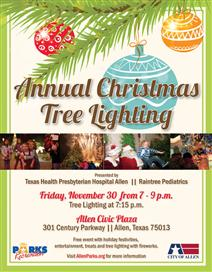 Annual Christmas Tree Lighting - November 30
