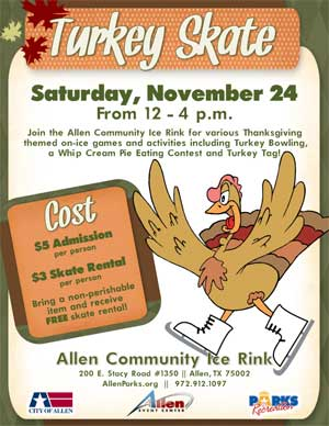Turkey Skate at Allen Community Ice Rink - November 24