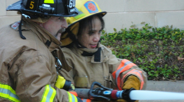 citizens fire academy student