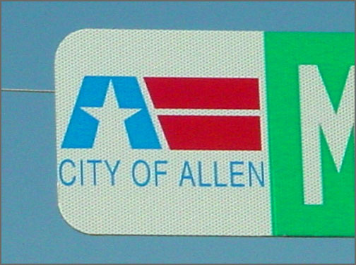 City of Allen sign