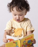 Little child reading