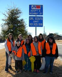 Adopt a Highway Girl Scouts Group Picture